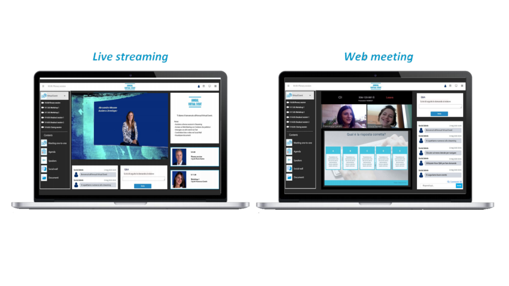 live streaming e web meeting Digivents